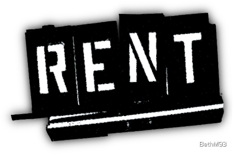 """Rent Logo """"Rent The Musical..."""