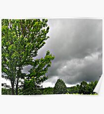 Spring Thunder Storm Clouds Rolling in Poster