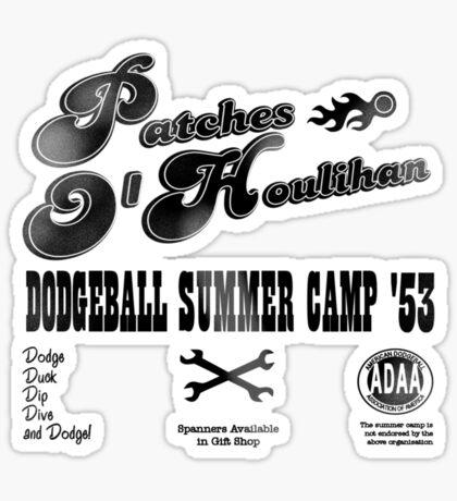 Dodgeball Summer Camp Sticker