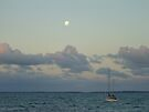 Moonrise over the Mooring. by Aakheperure