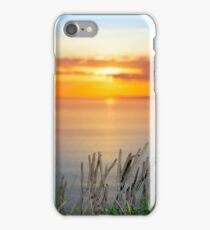 sunset over loop head with the wild tall grass iPhone Case/Skin