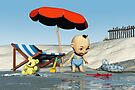 Baby Toon-Discoveries on the beach by Roberta Angiolani