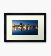 Perth City Reflects Framed Print