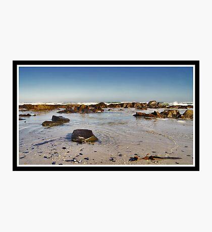 Calm Amongst The Rocks Photographic Print