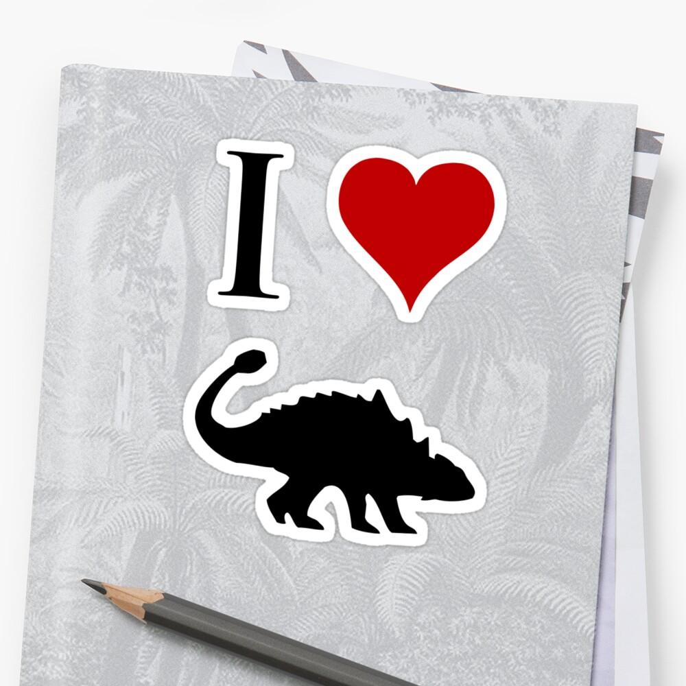 I Love Dinosaurs - Ankylosaurus by jezkemp