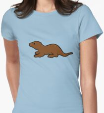 Cute Otter Womens Fitted T-Shirt