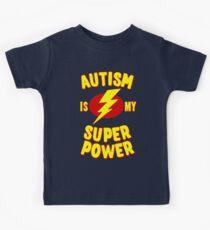 Autismus ist meine Supermacht Kinder T-Shirt