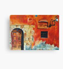 Egyptian Facade Canvas Print
