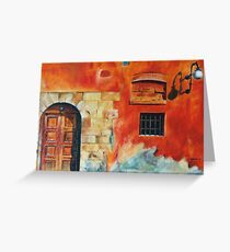 Egyptian Facade Greeting Card