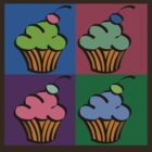 4 Square Cupcakes by wilynsical