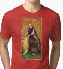 Medieval Lady and Lion Tri-blend T-Shirt