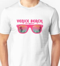 Venice Beach Sunglasses reflect Unisex T-Shirt
