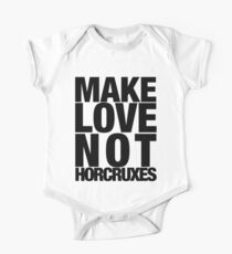 Make Love Not Horcruxes (NOW AVAILABLE IN WHITE) Kids Clothes
