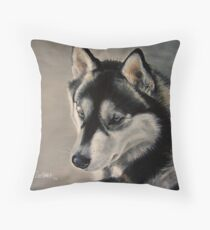 Husky - Baby Blue Eyes Throw Pillow