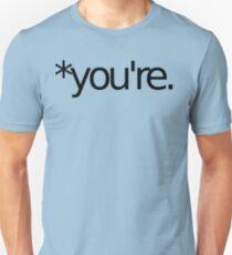 Camiseta ajustada * tu eres ¡Camiseta nazi de la gramática! NEGRO