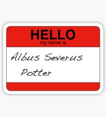 HELLO my name is...Albus Severus Potter! Sticker