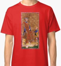 Medieval King on throne painting Classic T-Shirt
