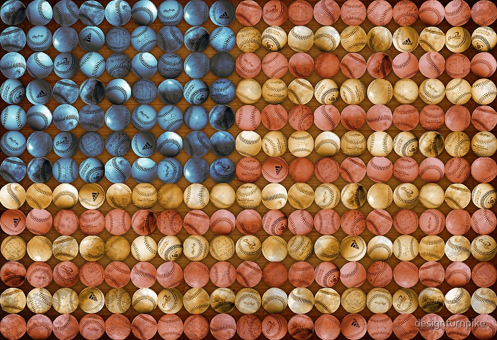 Baseball Flag - America's Past time by designturnpike