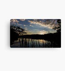 Peters Lake Sunset Canvas Print