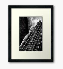 Metallic distortion Framed Print