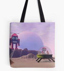 Toy Moon Walker Scene Tote Bag