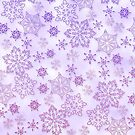 Pinky to purple Snowflakes by anaisnais
