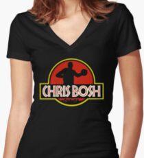 Chrisosaurus-Bosh Women's Fitted V-Neck T-Shirt