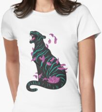 Black tiger Fitted T-Shirt