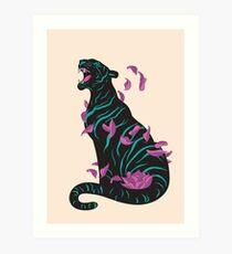 Schwarzer Tiger Kunstdruck