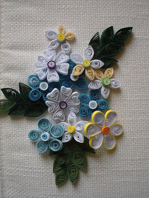 Quilling fabric work by 1041065687 redbubble for Paper quilling work