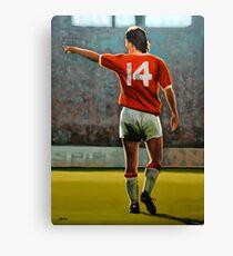 Johan Cruyff Oranje nr 14 Canvas Print