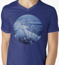 Winter Mountain Range Mens V-Neck T-Shirt