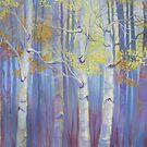 Brian's Purple Trees by jdbuckleyart