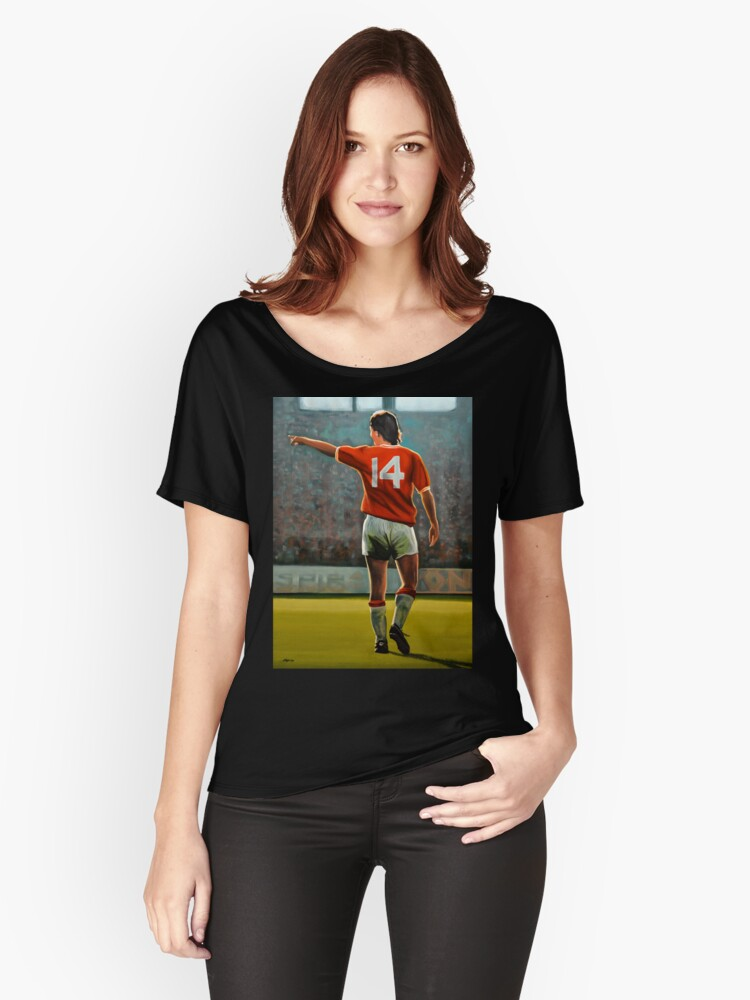 Johan Cruyff Oranje nr 14 Women's Relaxed Fit T-Shirt Front