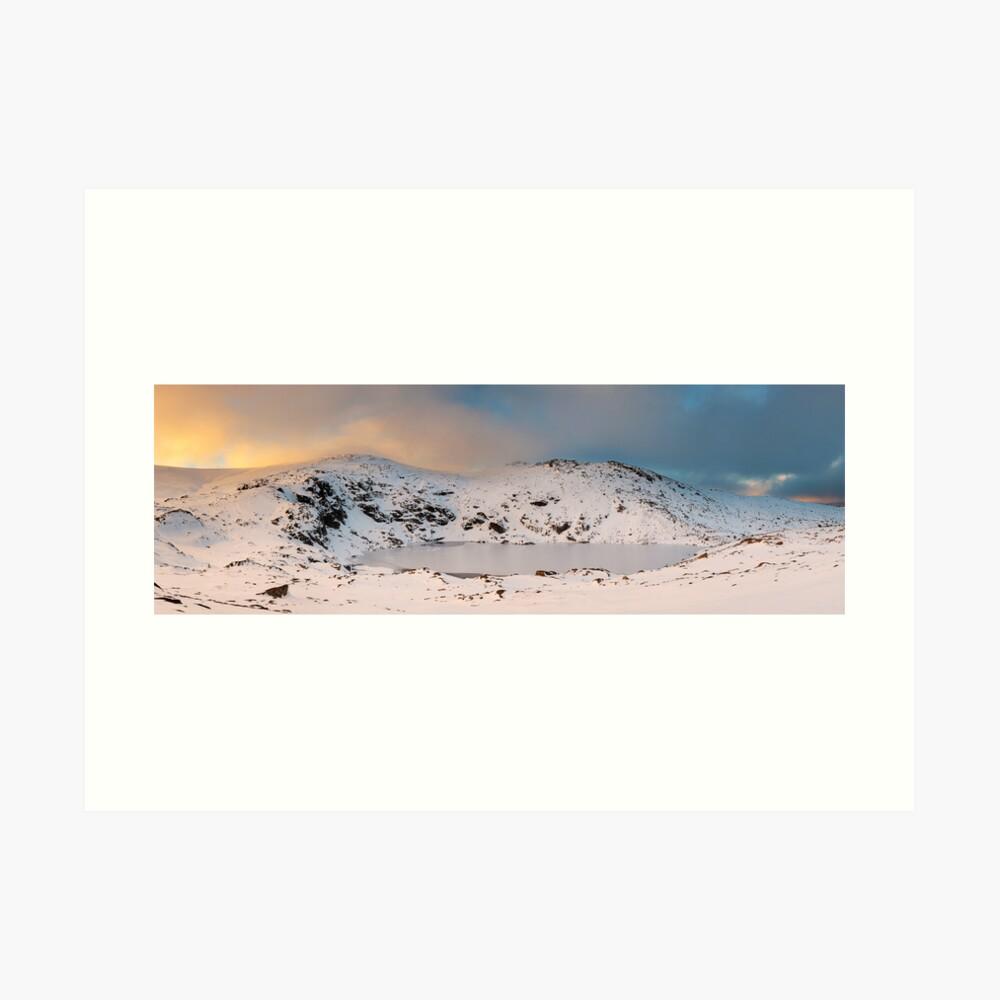 Winter finds Blue Lake, Kosciuszko National Park, NSW, Australia Art Print