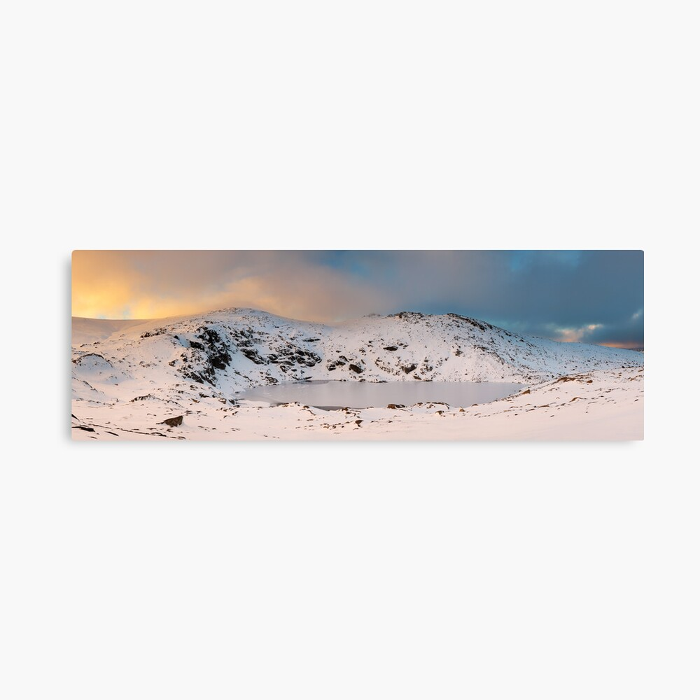 Winter finds Blue Lake, Kosciuszko National Park, NSW, Australia Canvas Print
