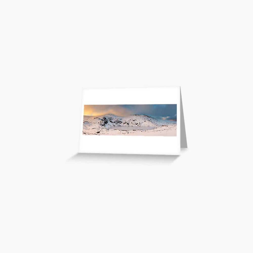 Winter finds Blue Lake, Kosciuszko National Park, NSW, Australia Greeting Card