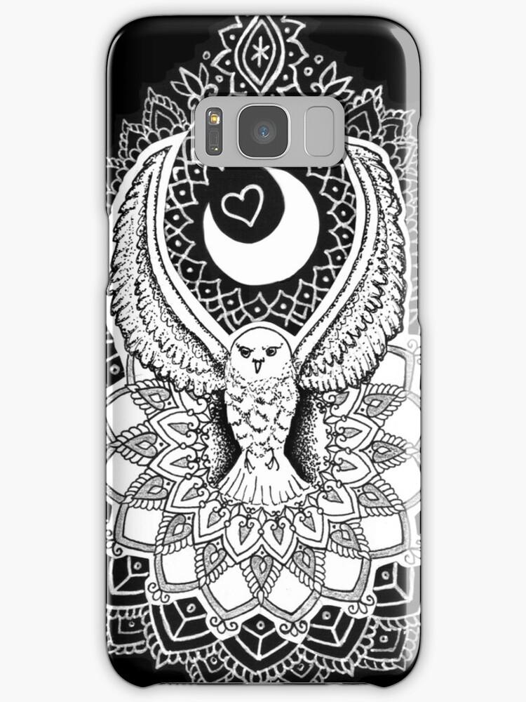 luna owl mandala by zentaurius