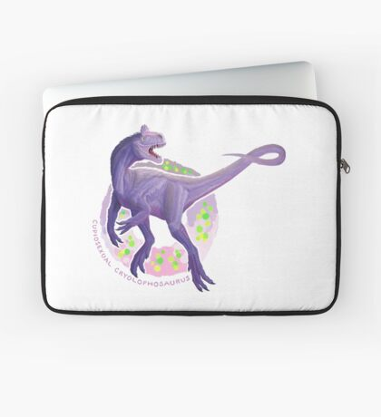 Cupiosexual Cryolophosaurus (with text)  Laptop Sleeve