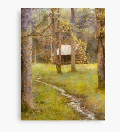 Cades  Cove - Carter Shields Cabin  Canvas Print