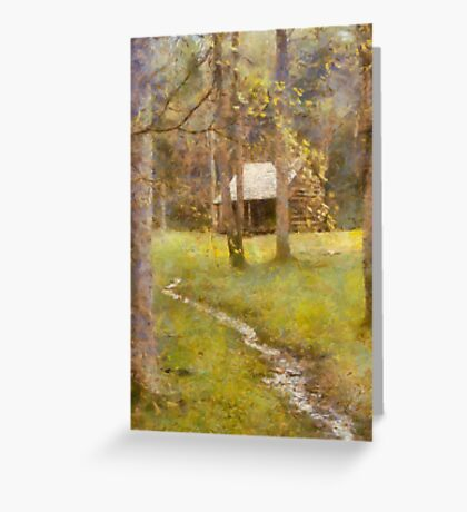 Cades  Cove - Carter Shields Cabin  Greeting Card