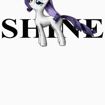 Shine like Rarity by Jackarunda