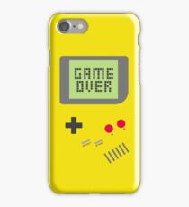 Game Over - Yellow iPhone Case/Skin