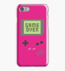 Game Over - Pink iPhone Case/Skin