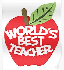 World's Best teacher Poster