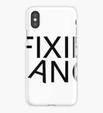 Fixie gang black iPhone Case/Skin