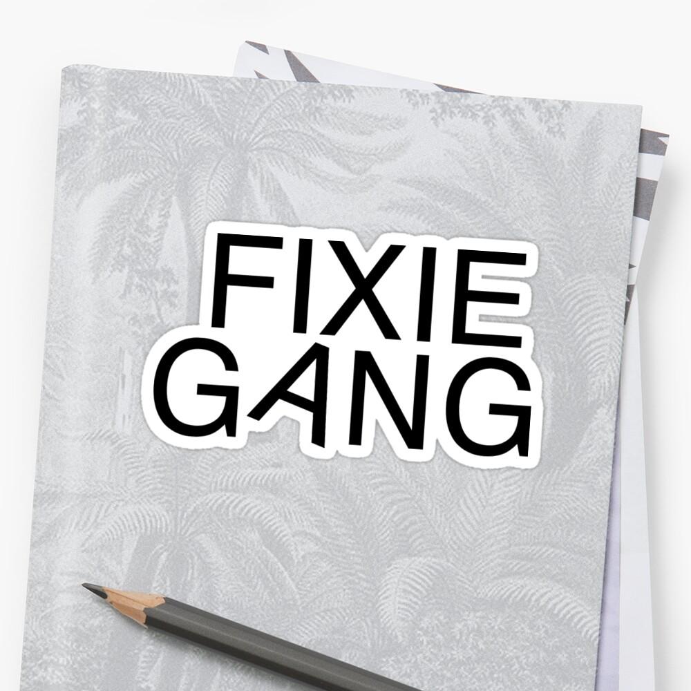 Fixie gang black by dogxdad