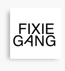 Fixie gang black Canvas Print
