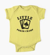 Little Poker Champ One Piece - Short Sleeve