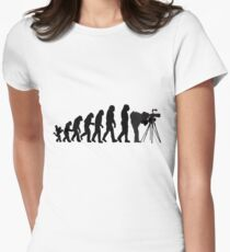 Male Photographer Evolution Tee Shirt Womens Fitted T-Shirt